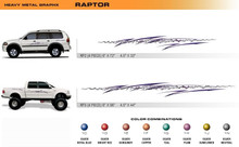 RAPTOR Universal Vinyl Graphics Decorative Striping and 3D Decal Kits by Sign Tech Media, Inc. (STM-RP)