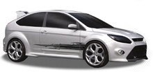 PULSE : Automotive Vinyl Graphics - Universal Fit Decal Stripes Kit - Pictured with TWO DOOR HATCHBACK (ILL-902)