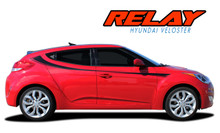 RELAY : Hyundai Veloster Upper Body Door Accent Striping Vinyl Graphic Stripes Decal Kit (VGP-1935)