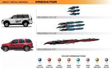 PREDATOR Universal Vinyl Graphics Decorative Striping and 3D Decal Kits by Sign Tech Media, Inc. (STM-PD)