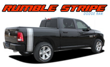 RUMBLE : 2009 2010 2011 2012 2013 2014 2015 2016 2017 2018 Dodge Ram Rear Truck Bed Stripes Vinyl Graphics Decals Kit (VGP-2123)