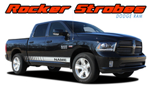 ROCKER STROBES : 2009 2010 2011 2012 2013 2014 2015 2016 2017 2018 Dodge Ram Lower Rocker Panel Door Stripes Vinyl Graphics Decal Kit (VGP-2120)