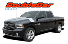RAM DOUBLE BAR : 2009 2010 2011 2012 2013 2014 2015 2016 2017 2018 Dodge Ram Hood Hash Marks Stripes Decals Vinyl Graphics Kit (VGP-2127)