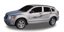 OUTRAGE : Automotive Vinyl Graphics - Universal Fit Decal Stripes Kit - Pictured with DODGE CALIBER (ILL-3604)