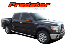 PREDATOR : 2009 2010 2011 2012 2013 2014 Ford 150 F-Series Raptor Style Mudslinger Rear Truck Bed Vinyl Graphics Decals Stripe Kit (VGP-1611)