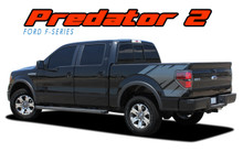 "PREDATOR 2 : 2009 2010 2011 2012 2013 2014 Ford F-Series ""Raptor"" Style Rear Truck Bed Vinyl Graphics Decals Stripes Kit (VGP-1821)"