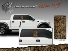 Oak Breeze Wild Wood Camouflage : Pillar Post Decal Vinyl Graphic 22 inches x 12 inches (ILL-1403.051)