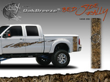 Oak Breeze Wild Wood Camouflage : Bed Side Rally with Logo 12 inches x 42 inches (ILL-1402.051)