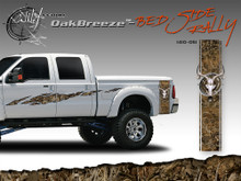 Oak Breeze Wild Wood Camouflage : Bed Side Rally with Deer Skull 12 inches x 42 inches (ILL-1410.051)