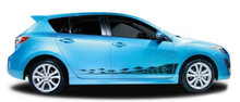NITROUS : Automotive Vinyl Graphics - Universal Fit Decal Stripes Kit - Pictured with FOUR DOOR HATCHBACK (ILL-851)