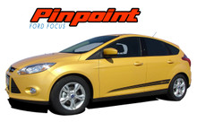 PINPOINT : 2012 2013 2014 2015 2016 2017 Ford Focus Side Door Accent Vinyl Graphics Striping Decals Kit (VGP-1708)