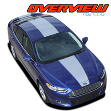 OVERVIEW : 2013 2014 2015 2016 2017 2018 2019 2020 Ford Fusion Center Hood Roof Trunk Spoiler Vinyl Graphics Decals Stripe Kit (VGP-2264)