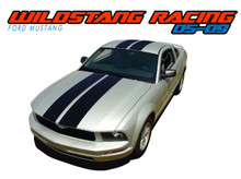 WILDSTANG 05 : 2005 2006 2007 2008 2009 Ford Mustang Lemans Style Vinyl Racing Stripes Kit (VGP-1056)