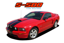 "S-500 : 2005 2006 2007 2008 2009 Ford Mustang GT Lemans GT500 Style 10"" Wide Vinyl Racing Stripe Rally Kit (VGP-1367.75)"