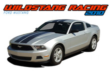 WILDSTANG 10 : 2010 2011 2012 Ford Mustang Hood Roof Trunk Racing Stripes Rally Vinyl Graphic Kit (VGP-1568)