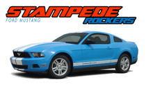 STAMPEDE ROCKER : 2010 2011 2012 Ford Mustang Lower Rocker Panel Stripes Vinyl Graphic Decals (VGP-1494)
