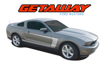 GETAWAY : 2010 2011 2012 Ford Mustang BOSS Style C-Stripe Vinyl Graphic Decal Stripes Kit (VGP-1606)