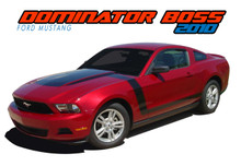 DOMINATOR BOSS : 2010-2012 Ford Mustang Hood and Sides Vinyl Graphics Decal Striping Kit (VGP-1512.1513)
