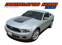 DOMINATOR HOOD : 2010 2011 2012 Ford Mustang Center Hood Blackout Vinyl Graphics Decal Kit (VGP-1512)