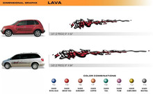 LAVA Universal Vinyl Graphics Decorative Striping and 3D Decal Kits by Sign Tech Media, Inc. (STM-LV)