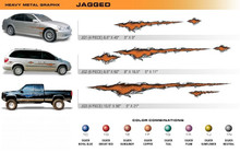 JAGGED Universal Vinyl Graphics Decorative Striping and 3D Decal Kits by Sign Tech Media, Inc. (STM-JG)