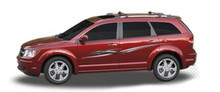 JACK KNIFE : Automotive Vinyl Graphics - Universal Fit Decal Stripes Kit - Pictured with DODGE CROSSOVER (ILL-HR06)