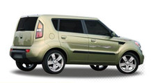 INSTIGATOR : Automotive Vinyl Graphics - Universal Fit Decal Stripes Kit - Pictured with KIA SOUL (ILL-844)
