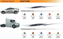 IGNITION Universal Vinyl Graphics Decorative Striping and 3D Decal Kits by Sign Tech Media, Inc. (STM-IGN)