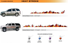 HEAT STROKE Universal Vinyl Graphics Decorative Striping and 3D Decal Kits by Sign Tech Media, Inc. (STM-HS)