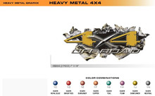 HEAVY METAL 4X4 Universal Vinyl Graphics Decorative Striping and 3D Decal Kits by Sign Tech Media, Inc. (STM-HM4X4)