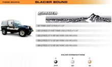 GLACIER BOUND Universal Vinyl Graphics Decorative Striping and 3D Decal Kits by Sign Tech Media, Inc. (STM-GB