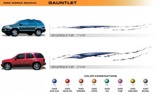 GAUNTLET Universal Vinyl Graphics Decorative Striping and 3D Decal Kits by Sign Tech Media, Inc. (STM-GT)