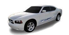 FORMULA : Automotive Vinyl Graphics - Universal Fit Decal Stripes Kit - Pictured with DODGE CHARGER (ILL-HR05)