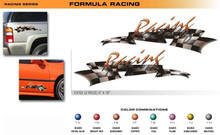 FORMULA SERIES RACING Universal Vinyl Graphics Decorative Striping and 3D Decal Kits by Sign Tech Media, Inc. (STM-FX101)