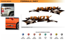 FORMULA SERIES INDY Universal Vinyl Graphics Decorative Striping and 3D Decal Kits by Sign Tech Media, Inc. (STM-FX116)