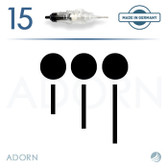 3 Sloped Needle (Box of 15) – for ET Modul / Onix (+ Compatible Machines)