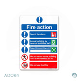 SIGN: 'Fire Action Plan'