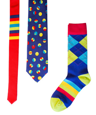 Bouncing Colors Tie & Sock Combo