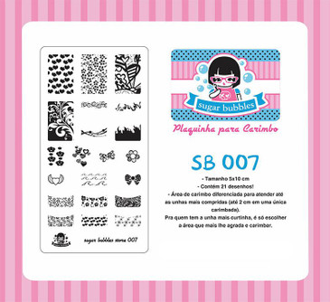 Sugar Bubbles SB007 nail stamping plate, available in the USA at www.lanternandwren.com.
