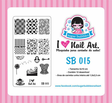 Sugar Bubbles SB015 nail stamping plate, available in the USA at www.lanternandwren.com.