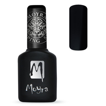 Easily apply nail foil to your stamping using Black Moyra Foil Stamping Polish. Available at Lantern & Wren.