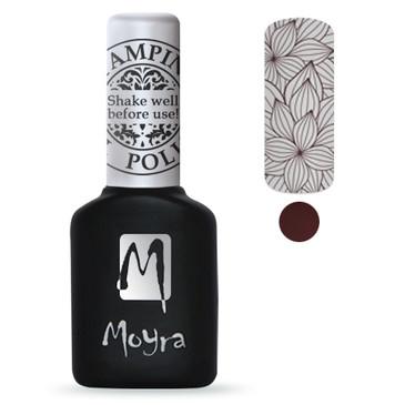 Brown GEL stamping polish from Moyra. Available at Lantern & Wren.