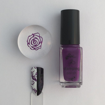 Clear Jelly Stamper stamping polish #16 Shiraz, available at www.lanternandwren.com.