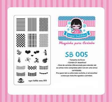 Sugar Bubbles SB005 nail stamping plate, available in the USA at www.lanternandwren.com.