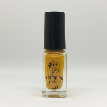 Clear Jelly Stamper stamping polish #20 - Copper Hint, available at www.lanternandwren.com.
