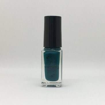 Clear Jelly Stamper stamping polish #39, Teal or no Deal, available at www.lanternandwren.com.