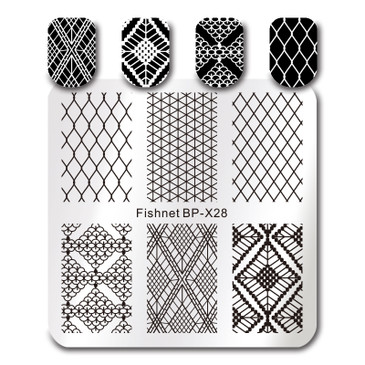 Born Pretty BP-X28 nail stamping plate. Get yours without the wait, already in the USA at www.lanternandwren.com.