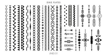 Dixie Plates Lines 01 mini stamping plate. Available in the USA at www.lanternandwren.com.
