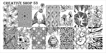 Creative Shop Stamping Plate 53.  Available at www.lanternandwren.com.
