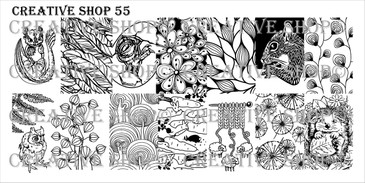 Creative Shop Stamping Plate 55.  Available at www.lanternandwren.com.